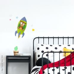 sticker fusée déco chambre bébé