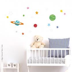 sticker étoiles déco bébé