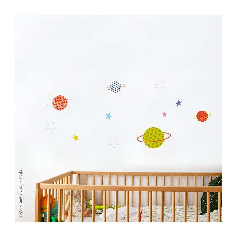 sticker enfant étoiles multicolores