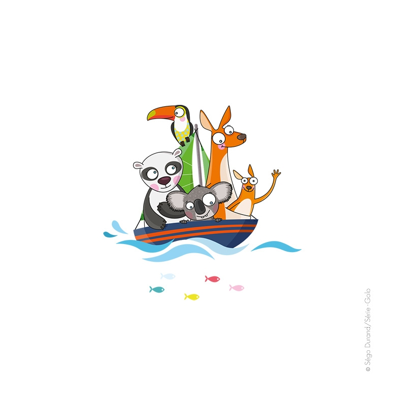 sticker enfant bateau