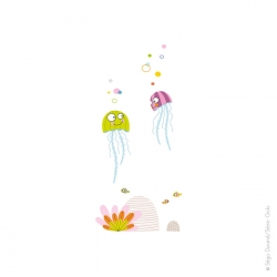 autocollant de décoration pour une chambre sur le thème de la mer