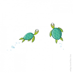 sticker tortues vertes