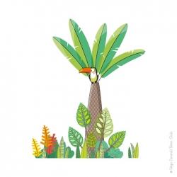 sticker nature thème jungle