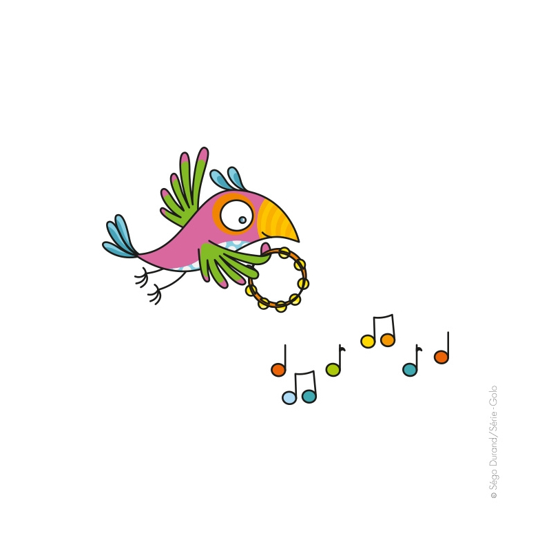sticker enfant perroquet