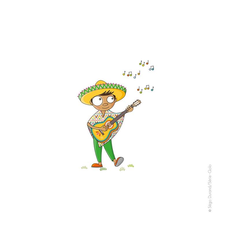 sticker personnage mexique