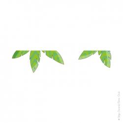 sticker enfant feuilles palmier