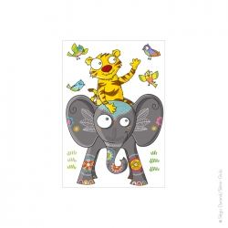 sticker enfant, animaux