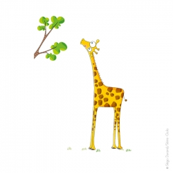 Sticker madame la girafe