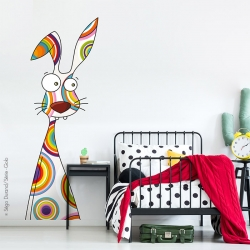 Sticker enfant lapin géant