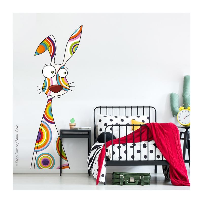sticker géant lapin déco enfant