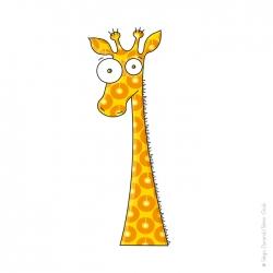 stickers géant girafe