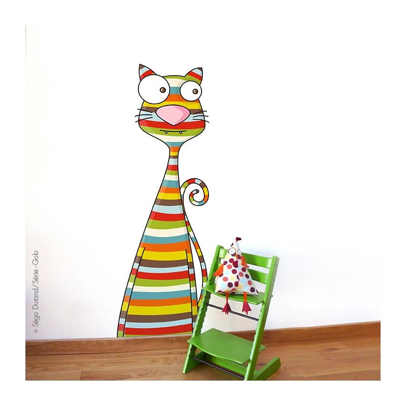 Sticker géant chat