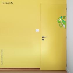 sticker caméléon pour porte de chambre