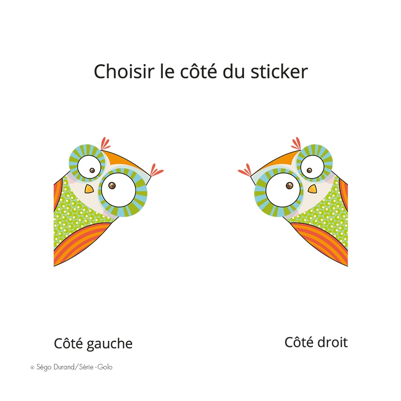 Sticker avion coin coin