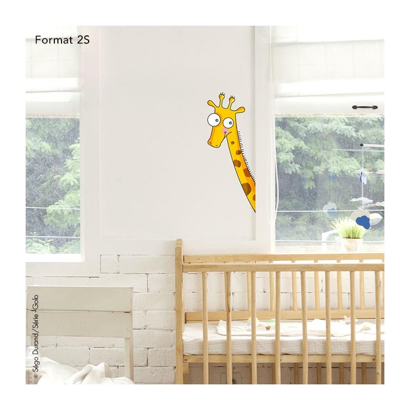 sticker de porte girafe