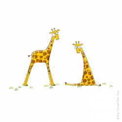 Sticker girafe chambre enfant