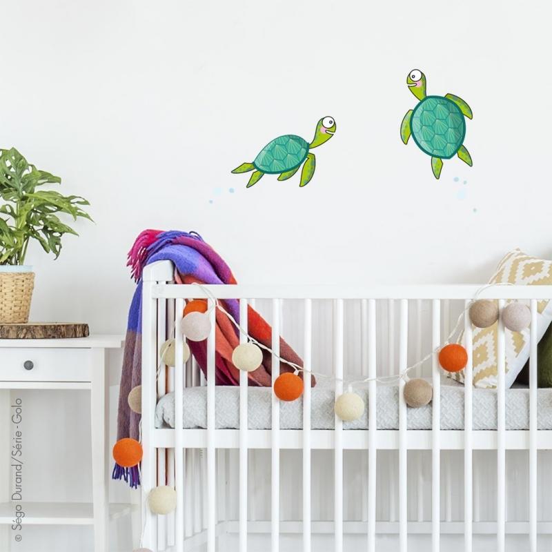 sticker tortues à motif
