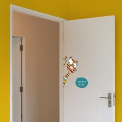 sticker bulle pour porte de chambre
