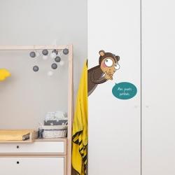 sticker bulle pour accompagner les stickers de porte animaux