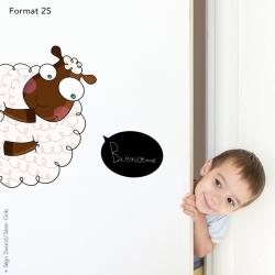 sticker mouton pour porte d'enfant