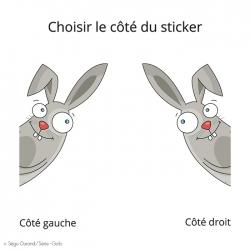 sticker de porte lapin pour décorer la chambre de bébé
