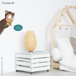 sticker singe pour placard à vêtements