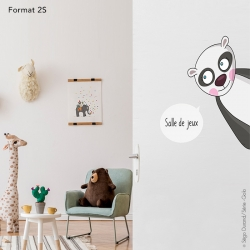 sticker enfant panda