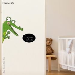 Sticker de porte crocodile
