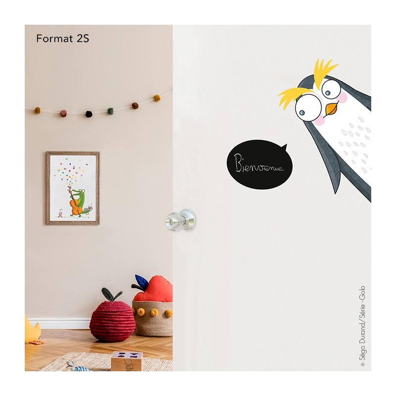 sticker pingouin pour décorer les portes de chambre