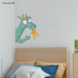 sticker enfant dragon