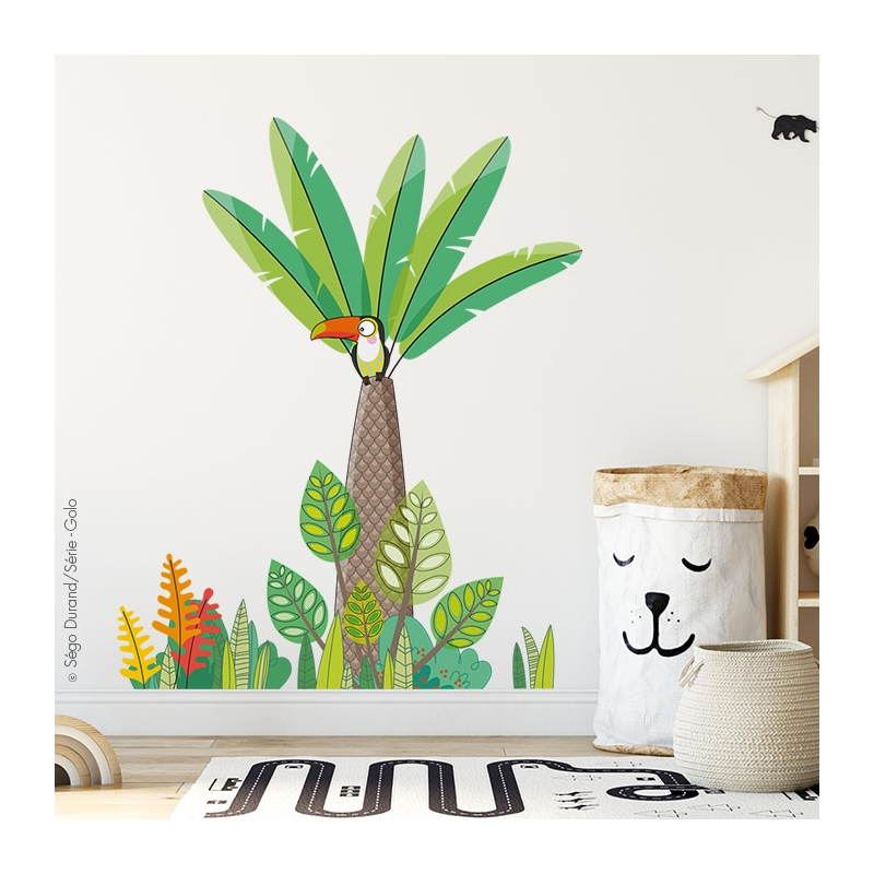 sticker jungle géant