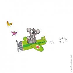 sticker avion pour chambre d'enfant