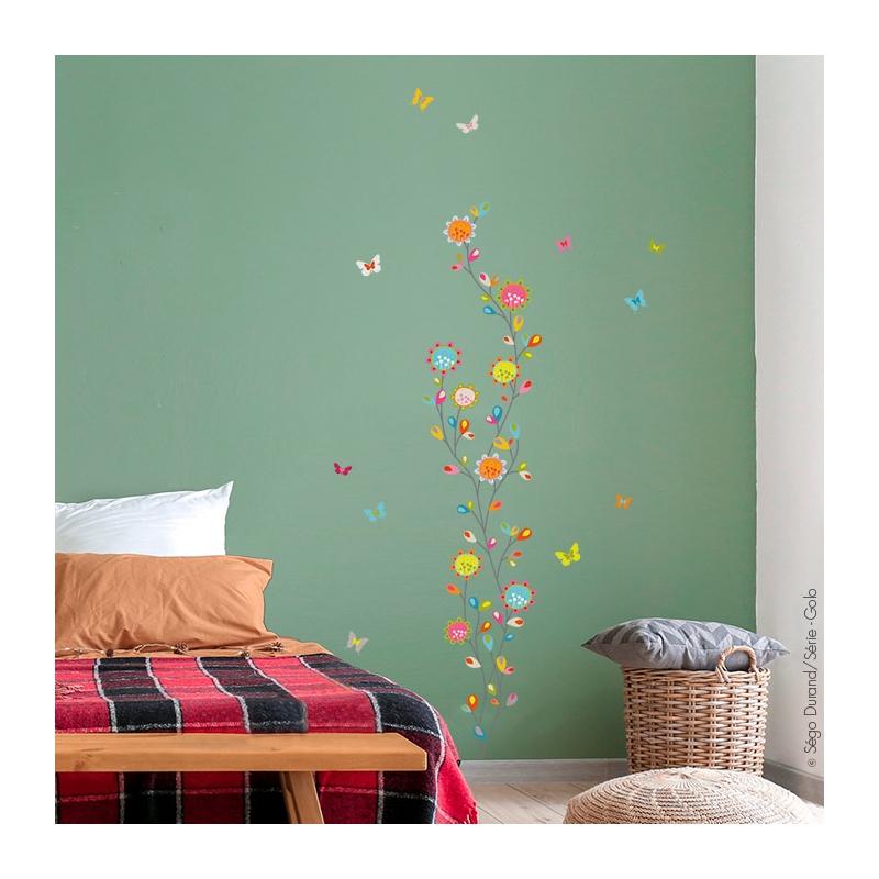 Stickers fleurs farandole