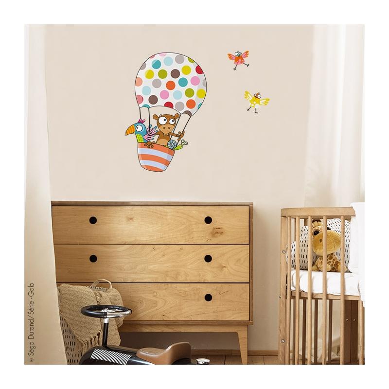 Stickers montgolfière chambre enfant