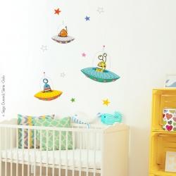 sticker enfant extra-terrestres thème espace