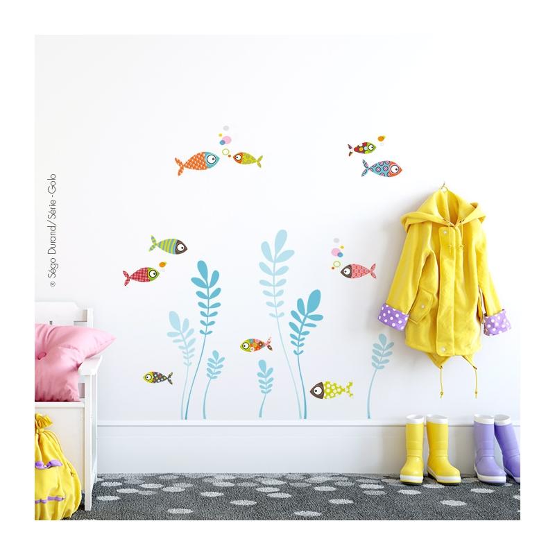 sticker pour enfant sur le thème de la mer
