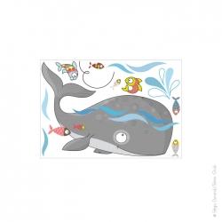 autocollant baleine pour enfant