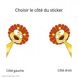 sticker lion pour enfant