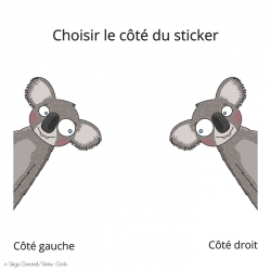 sticker koala - idée déco sur le thème des animaux d'australie