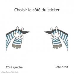 sticker zèbre pour décorer sur le thème de la savane