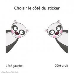 sticker panda pour porte - idée déco avec un thème design noir et blanc