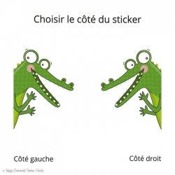 sticker de porte crocodile