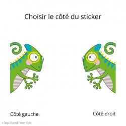 caméléon vert pour décorer la chambre de bébé