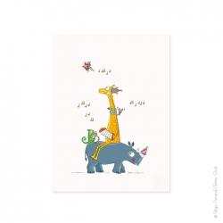 Affiche bébé Imprimée en France. Parfait pour un cadeau de naissance. Taille : 30x40 cm.