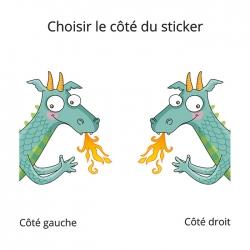 sticker dragon pour la déco des enfants