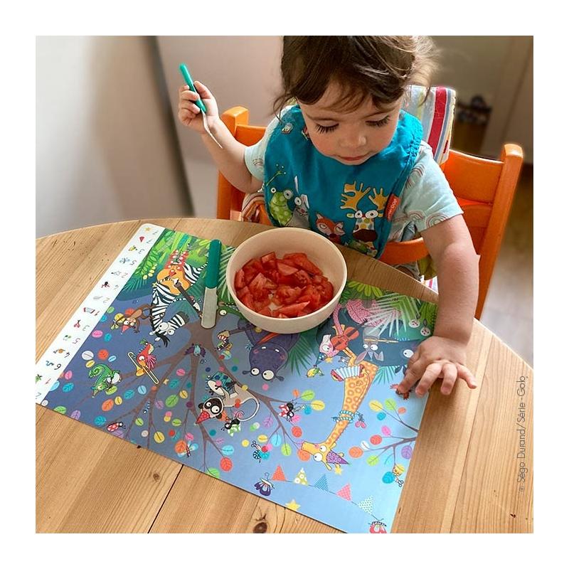 set de table enfant jeu cherche et trouve