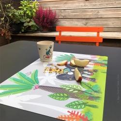 set de table enfant jungle éléphant