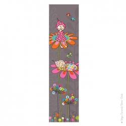 Papier peint bébé fleurs et lutins. 2 mètres 50 de bonheur.
