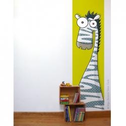 Papier peint chambre bébé. Zèbre. Collection animaux. Dimensions : largeur 63 cm longueur 2,5 m. vendu en rouleau.