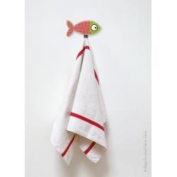 Patère enfant poisson rouge